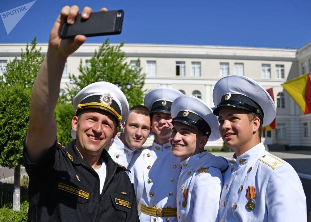 Nakhimov Naval Academy Cadets Celebrate 'Last Bell' in Sevastopol