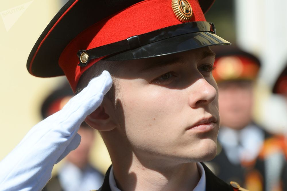 Sholokhov Moscow Presidential School Cadets Celebrate 'Last Bell'