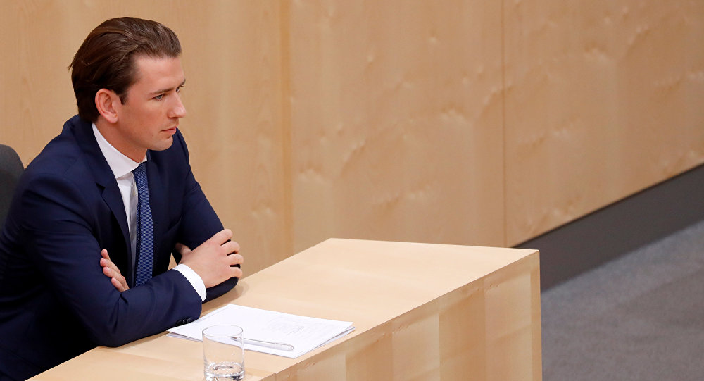 Austrian Chancellor Sebastian Kurz attends a session of the Parliament in Vienna, Austria May 27, 2019
