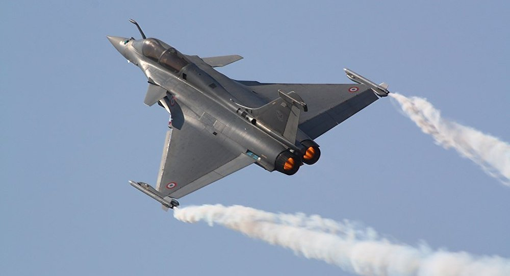 Defence Minister Rajnath Singh receives IAF's first Rafale fighter jet