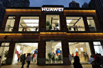 A Huawei store is seen at a commercial area in Wuhan, Hubei province, China March 30, 2019. Picture taken March 30, 2019