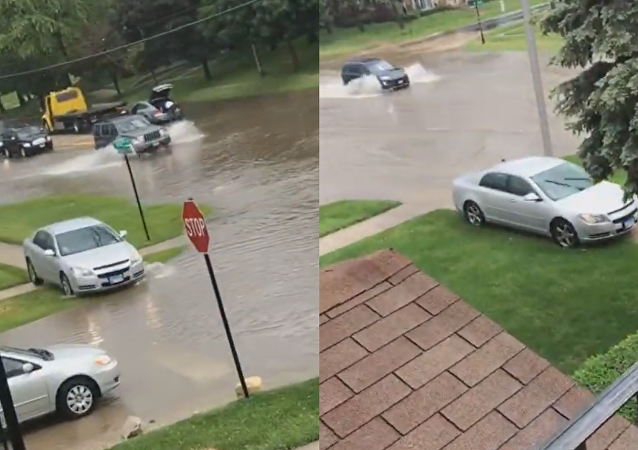 Off the Flooded Path: Chicago Motorist's Unconventional Detour