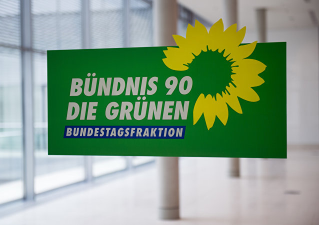 The logo of Germany's Green Party (Die Gruenen) (File)