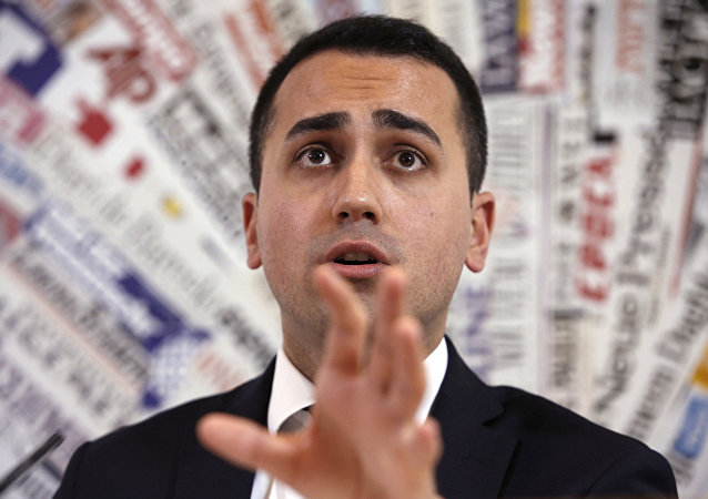 Italy's 5-Star Movement and Italian Low Chamber vice President Luigi Di Maio