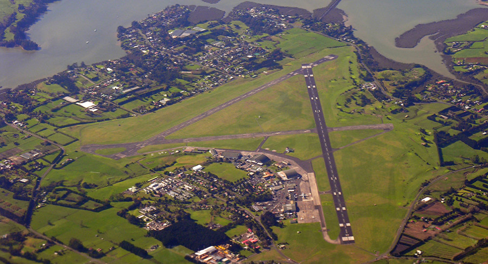 Whenuapai airbase from the air, looking eastward