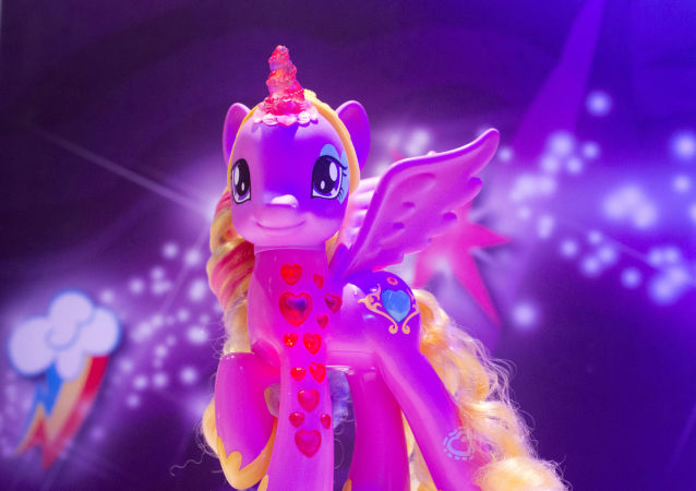 A My Little Pony Cutie Mark Magic Princess Cadence is displayed at the Hasbro showroom at the North American International Toy Fair, Saturday, Feb. 14, 2015, in New York.