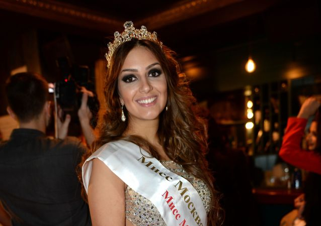 Miss Moscow 2015 Oksana Voyevodina at the Third Real Musicbox Award after-party in Moscow