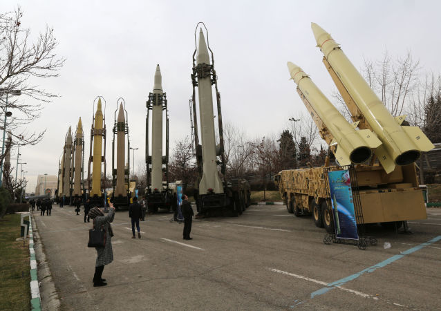 Iranians visit a weaponry and military equipment exhibition in the capital Tehran on Febraury 2, 2019, organised on the occasion of the 40th anniversary of the Isranian revolution