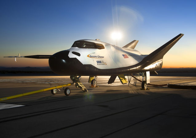 The Dream Chaser space vehicle, pictured in Edwards, California