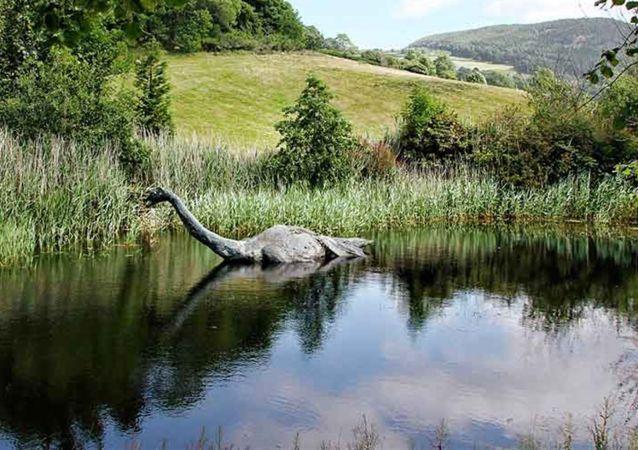 An artist's concept of the Loch Ness monster