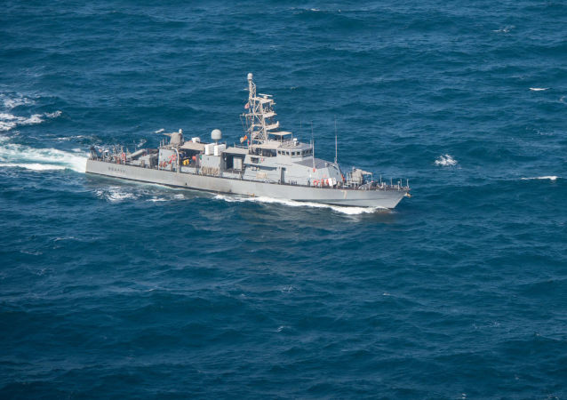 Patrol craft USS Squall (PC 7) as it transits in the Gulf acting (File)