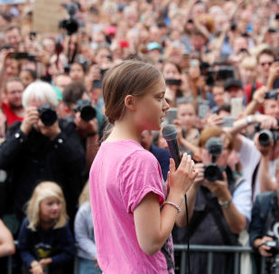 Swedish environmental activist Greta Thunberg attends Fridays for Future protest, claiming for measures to combat climate change, in Berlin, Germany, July 19, 2019