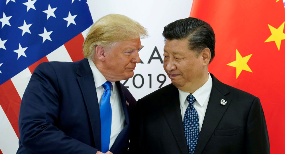 U.S. President Donald Trump meets with China's President Xi Jinping at the start of their bilateral meeting at the G20 leaders summit in Osaka, Japan, June 29, 2019