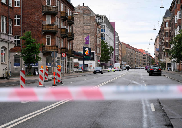 Authorities secure an area outside a local police station, following an explosion in Copenhagen, Denmark August 10, 2019.