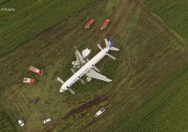 A321 emergency landing in the Moscow region