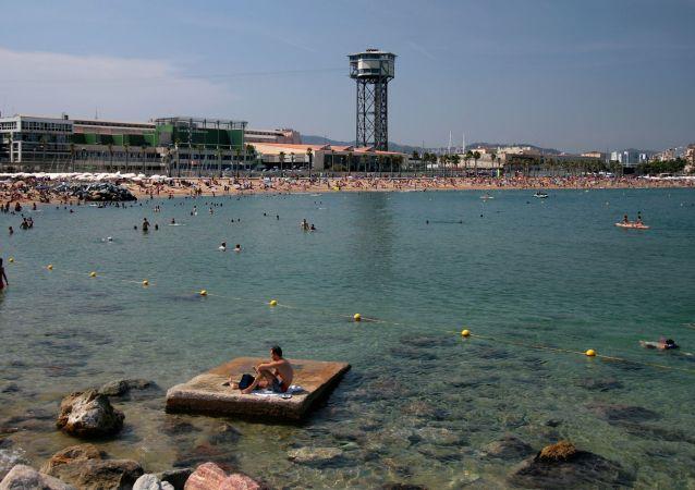 Sant Sebastia beach in Barcelona
