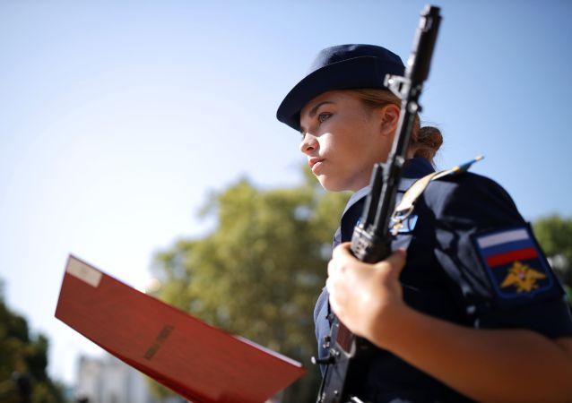 Stunning Cadet Girls Take Military Oath at Russian Aviation School