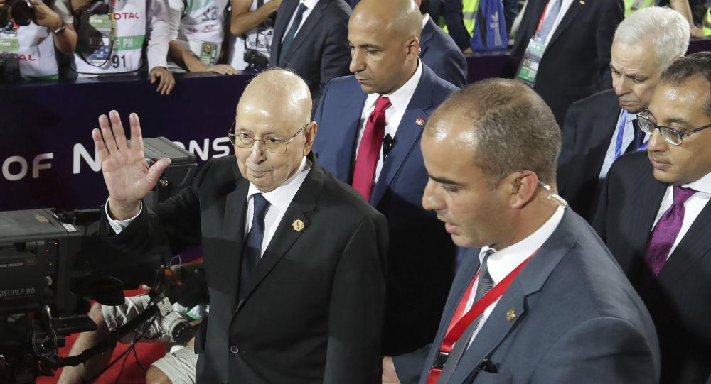 Algeria's interim president, Abdelkader Bensalah
