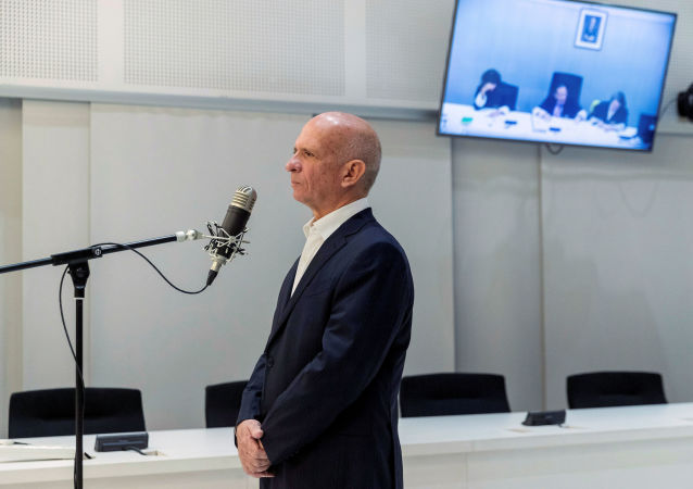 Former Venezuelan intelligence chief Hugo Carvajal stands during his extradition hearing to U.S. at the High Court in Madrid, Spain, September 12, 2019