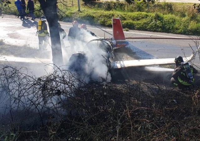 Plane crash in Italy