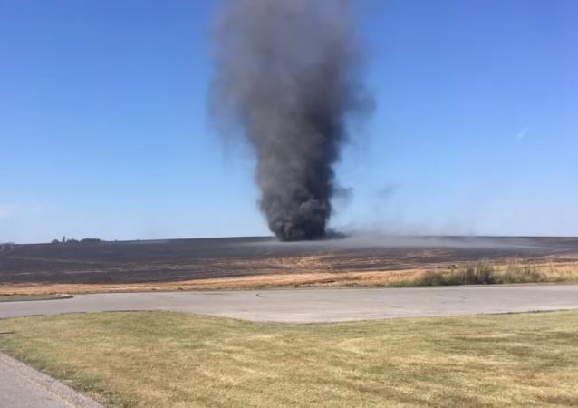 Massive 'Smokenado' Forms in US Cornfield