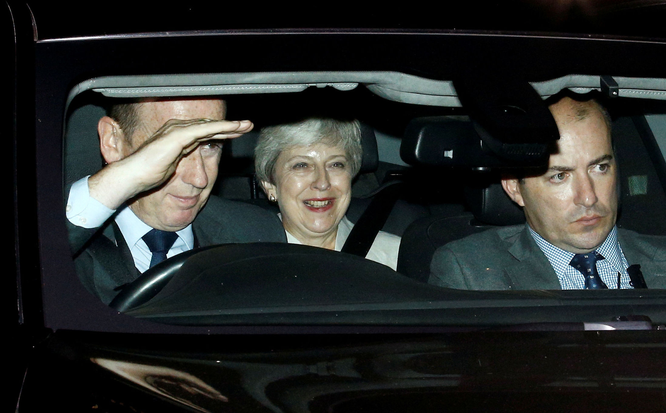 Britain's former Prime Minister Theresa May leaves the Houses of the Parliament in London, Britain, September 3, 2019