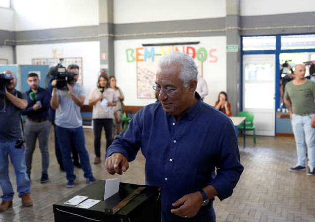 Portugal's Prime Minister and Socialist Party (PS) candidate Antonio Costa casts his ballot at a polling station during the general election in Lisbon, Portugal October 6, 2019.