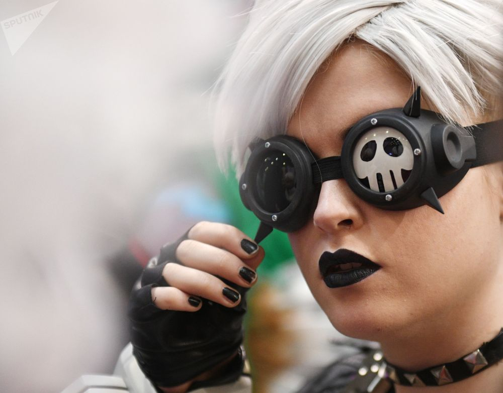 A cosplayer during the IgroMir 2019 exhibition and the Comic Con Russia 2019 festival in Moscow