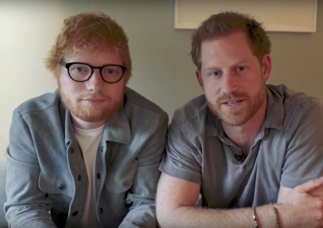 Prince Harry and Ed Sheeran Team up in Hilarious Sketch for World Mental Health Day