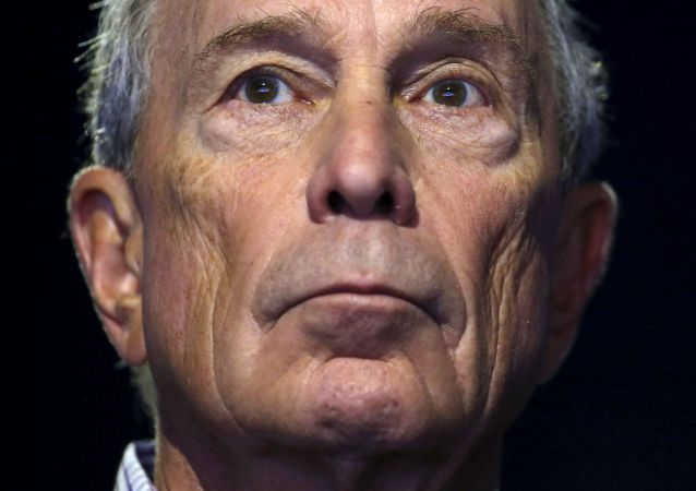 Former New York City Mayor Michael Bloomberg attends a meeting during the World Climate Change Conference 2015 at Le Bourget.