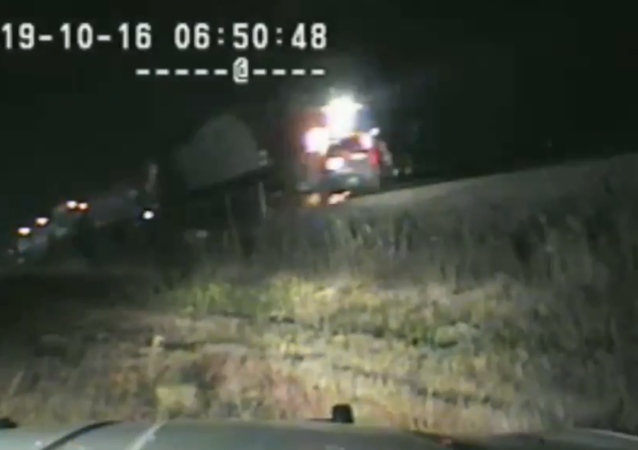 Dashcam footage captures moment Utah Trooper Ruben Correa pulled an unconscious driver from his vehicle seconds before a train crashed into it earlier this week.