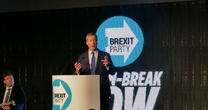 Nigel Farage at the Brexit Party rally
