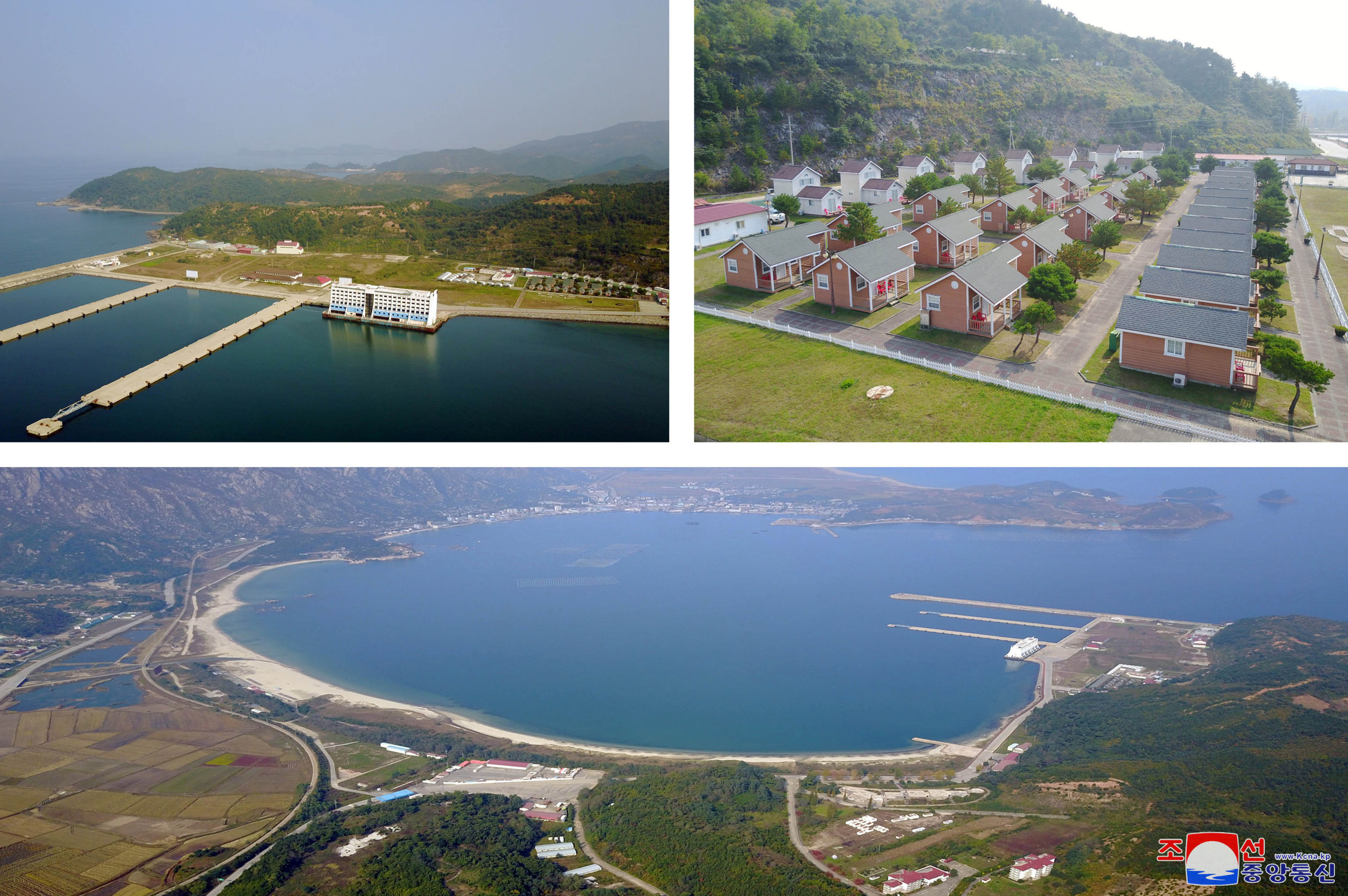 The Mount Kumgang tourist resort area is seen during North Korean leader Kim Jong Un's visit, North Korea, in this undated picture released by North Korea's Central News Agency (KCNA) on October 23, 2019