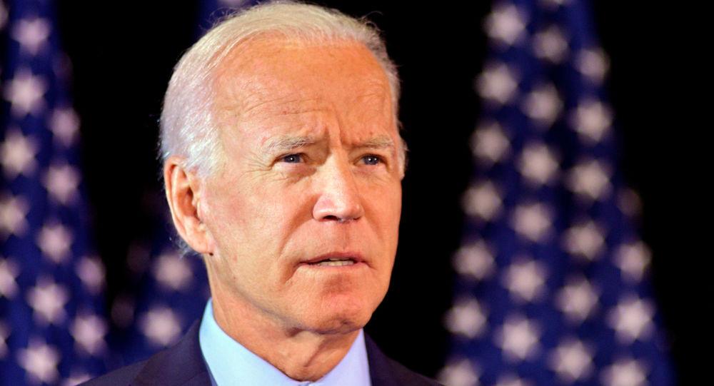 Joe Biden makes a statement on the whistleblower report in Wilmington, Delaware