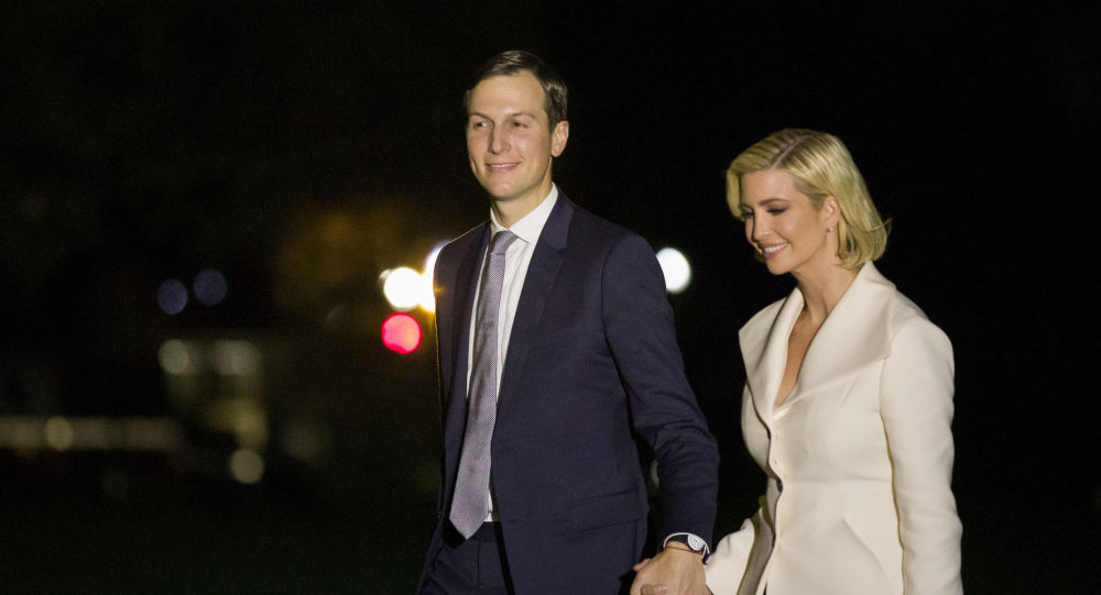 White House Senior Adviser Jared Kushner and his wife Ivanka Trump, the daughter and senior adviser to President Donald Trump, walk to the White House after stepping off Marine One on the South Lawn of the White House, early Friday, Oct. 18, 2019, in Washington.