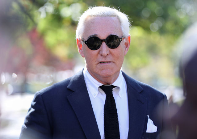 Former Trump campaign adviser Stone departs U.S. District Court following pre-trial hearing in Washington