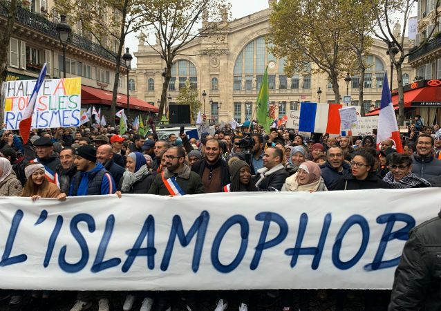 March Against Islamophobia in Paris