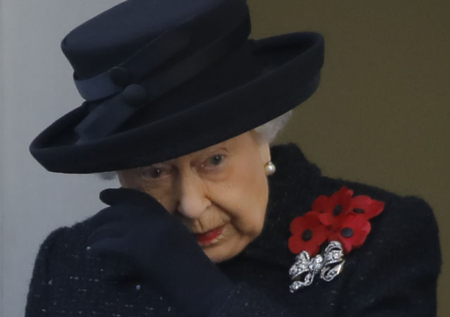 Britain's Queen Elizabeth II attends the Remembrance Sunday ceremony at the Cenotaph on Whitehall in central London, on November 10, 2019. - Remembrance Sunday is an annual commemoration held on the closest Sunday to Armistice Day, November 11, the anniversary of the end of the First World War and services across Commonwealth countries remember servicemen and women who have fallen in the line of duty since WWI.