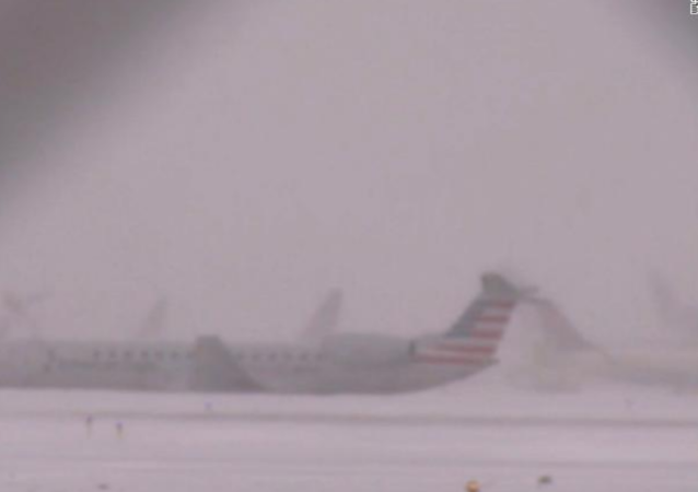 Plane Skids Off Snow-Covered Runway as Brutal Arctic Blast Hits Eastern US