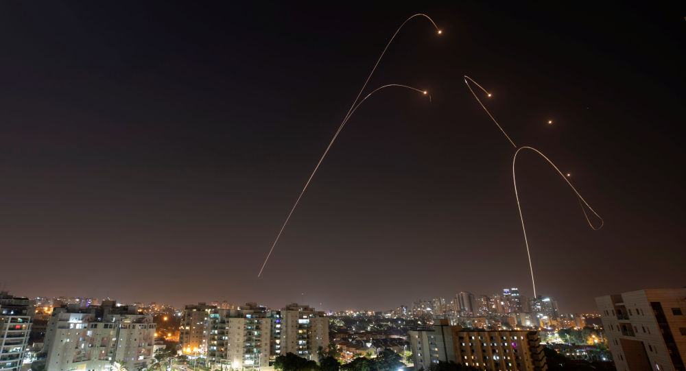 Iron Dome anti-missile system fires interception missiles as rockets are launched from Gaza towards Israel, as seen from the city of Ashkelon, Israel, November 13, 2019