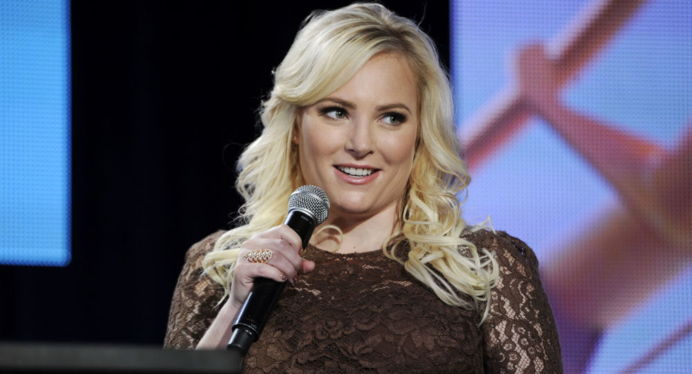 Meghan McCain, co-host of Pivot's TakePart Live, addresses reporters during  Pivot's panel at the Winter 2014 Television Critics Association Press Tour on Saturday, Jan. 11, 2014, in Pasadena, Calif. (Photo by Chris Pizzello/Invision for Participant Media/AP Images)