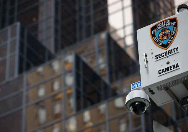A security camera in New York City