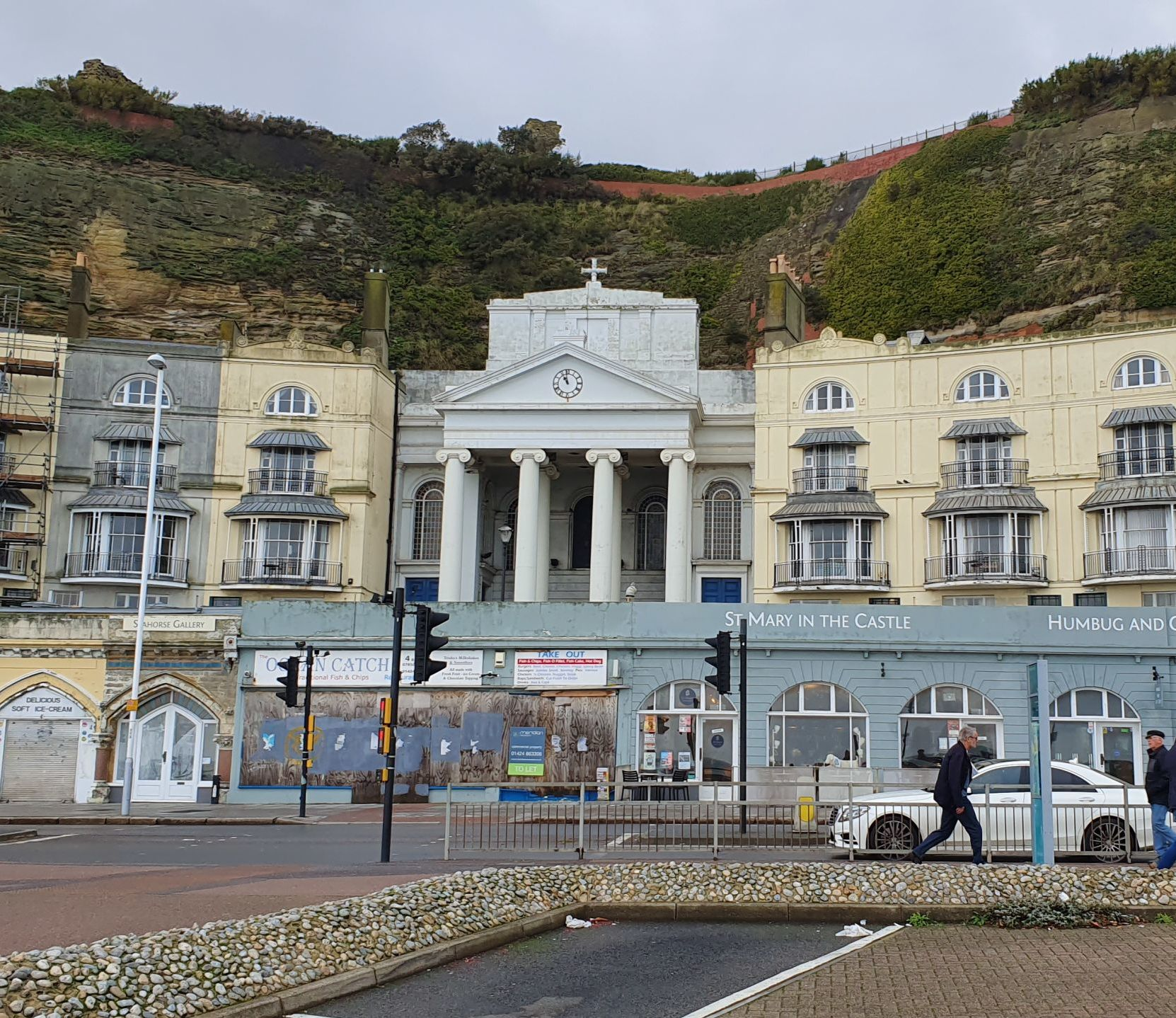 The seafront at Hastings, a once popular holiday resort