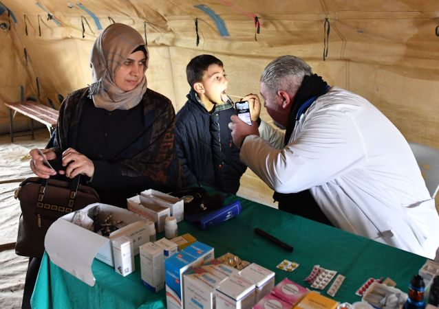 Provision of medical assistance to refugees in the Abu Duhur humanitarian corridor in the vicinity of Idlib province