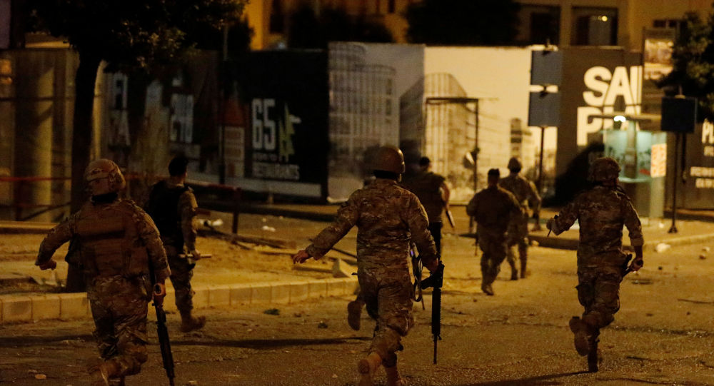 Lebanese army soldiers in Beirut, Lebanon