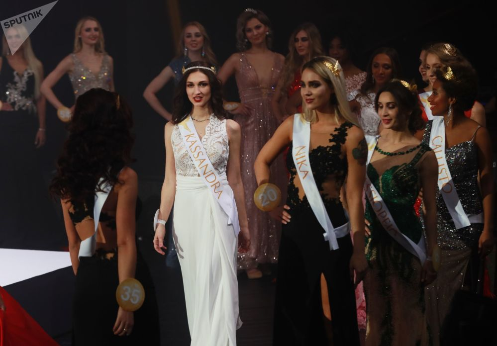 Finalists of the 'Miss Fashion 2019 - Goddess of the Universe' competition in Moscow