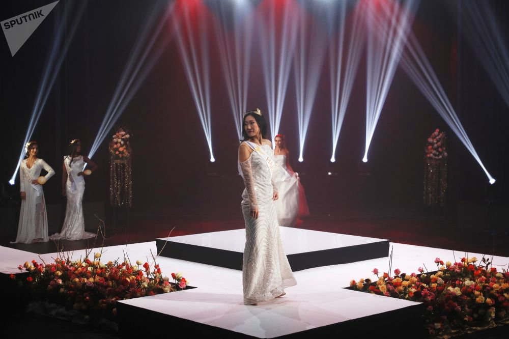 During the final stage of the 'Miss Fashion 2019' international competition in Moscow
