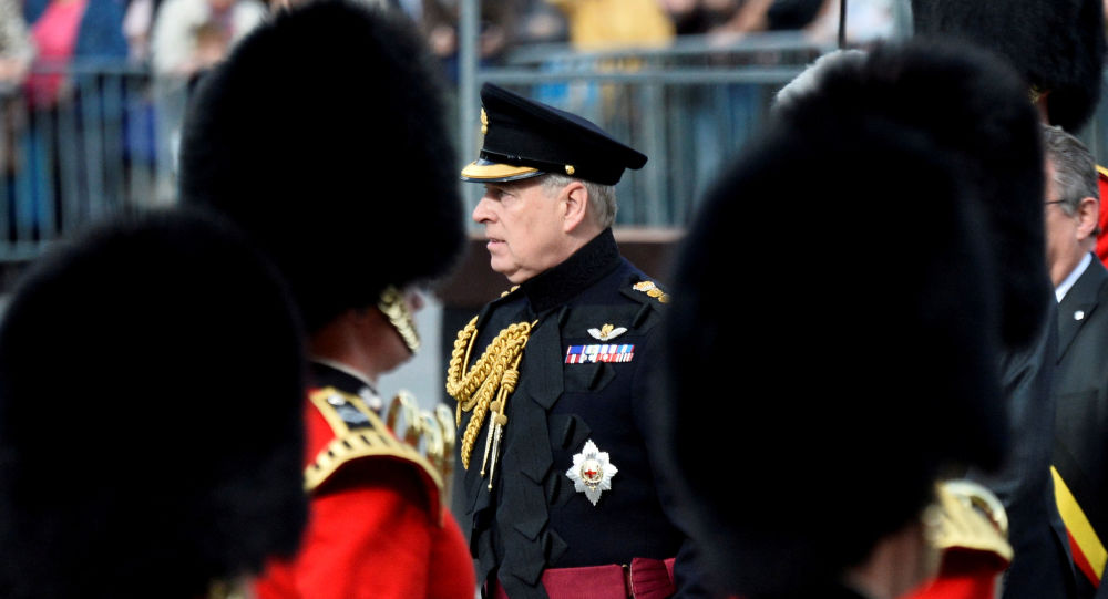 Britain's Prince Andrew attends ceremonies marking the 75th anniversary of the liberation of Belgium from German occupation in Brugge, Belgium, 7 September 2019