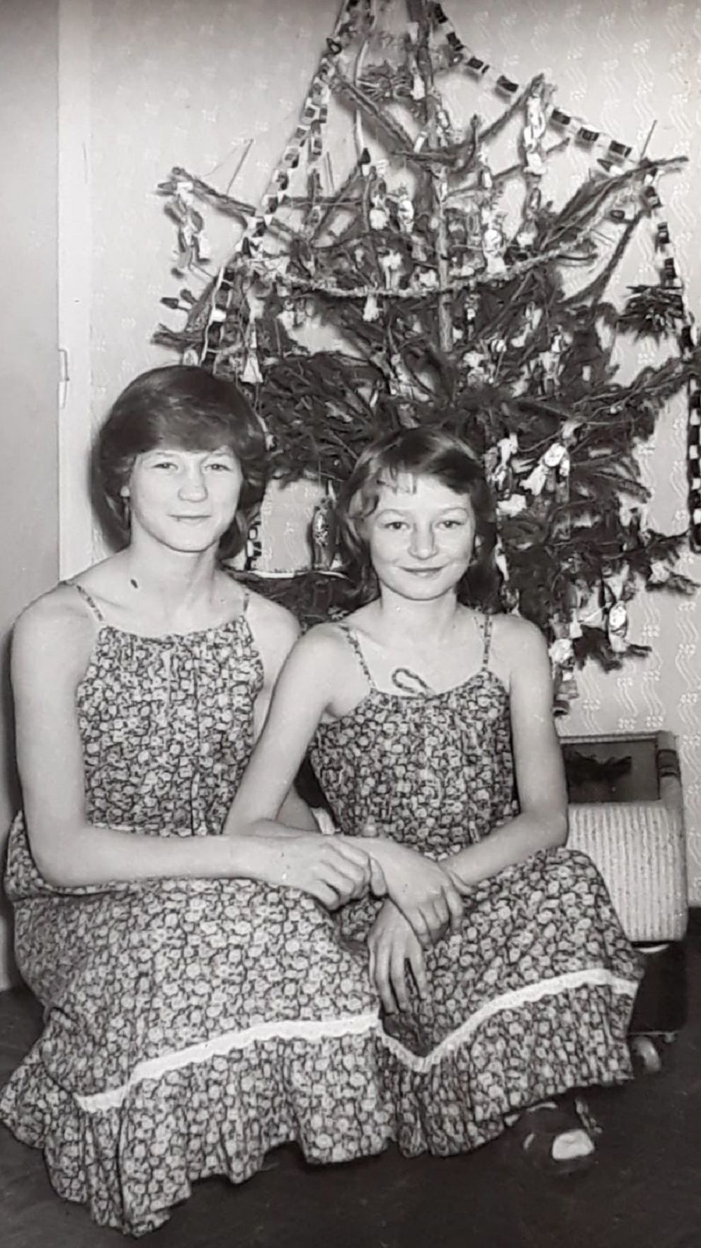 Christmas(Zsuszanna -right, with sister Juli)