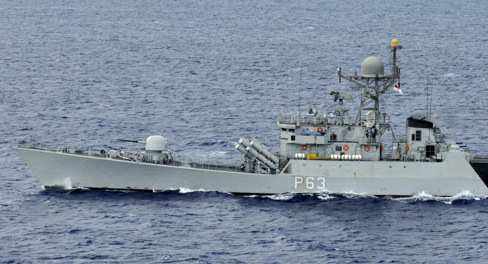The Indian navy guided-missile corvette INS Kulish (P63) is underway in formation with Carrier Strike Group (CSG) 1 during Exercise Malabar 2012. (File)